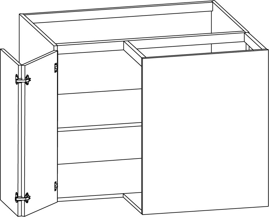 Hörnbänkskåp med en hylla 900/900mm - Nytt kök badrum och ...