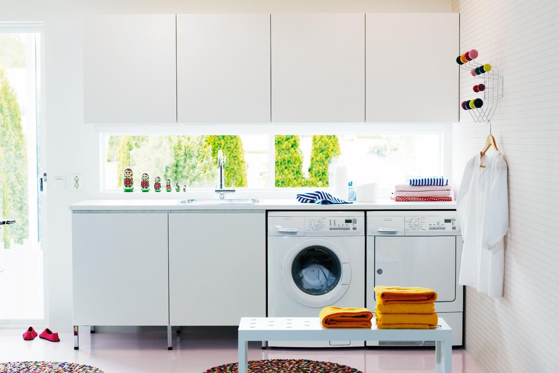Inredning tvättstuga inspiration : Inredningstips för tvättstugan | ELLE Decoration
