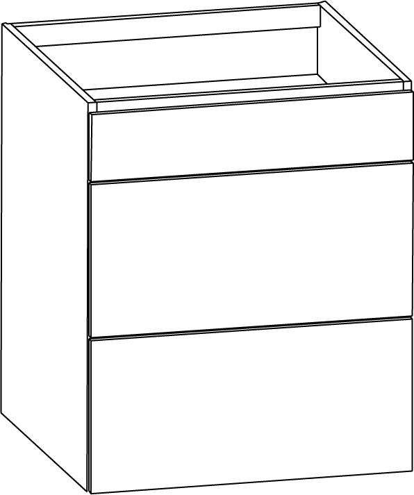 Skåp för häll med tre fullutdragslådor 600mm - Nytt kök badrum ...