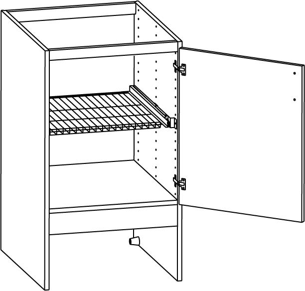 väggskåp kök mått : Bänkskåp med en gallerhylla 400mm Nytt kök ...