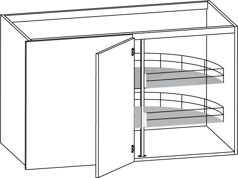 Utdragbar Hylla Kok :  utdragbar setforpackad halvkarusell som or utdragbar och har