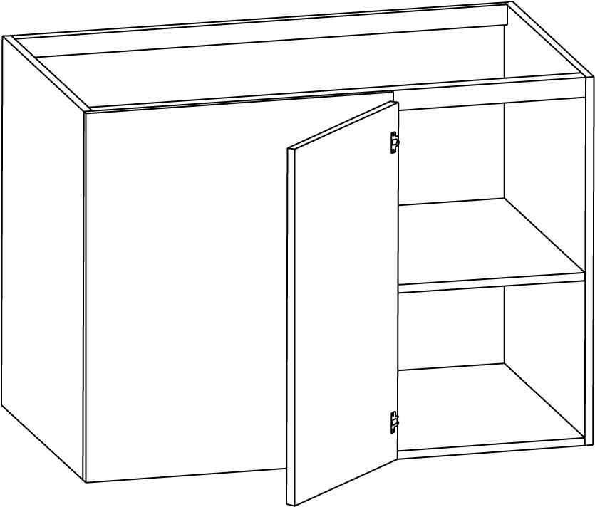 Hörnbänkskåp med en hylla 1000mm – Nytt kök badrum och ...
