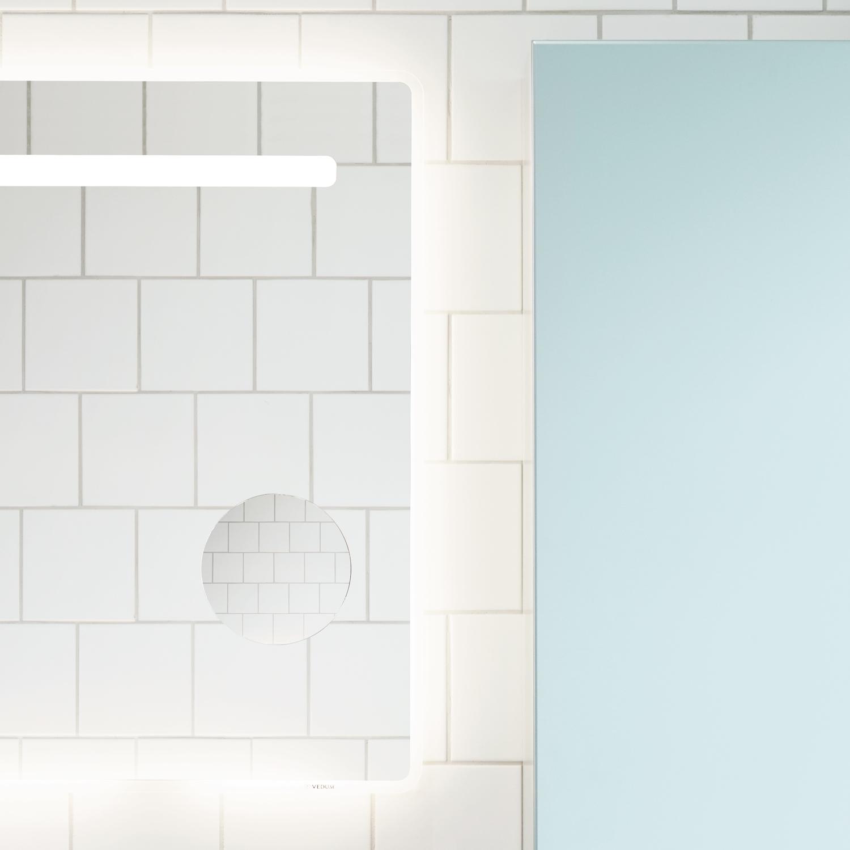 Spegel med led belysning 400x720   nytt kök badrum och tvättstuga ...