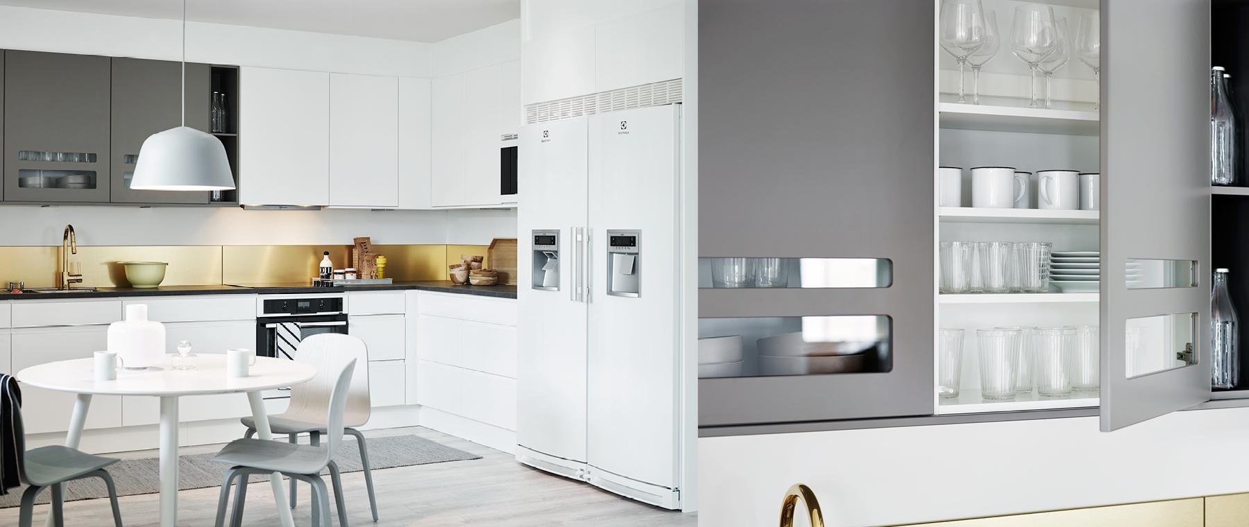 Annika vit grepplist, Nova betonggrå - Nytt kök badrum och ...