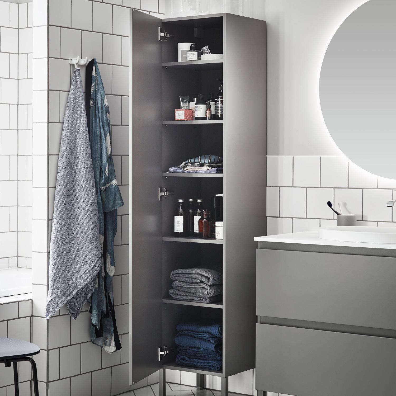 Populära Flow/Zone högskåp BAS 400 Vit mdf Vä - Nytt kök badrum och AT-69